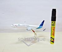Pajangan Miniatur Diecast Pesawat Garuda Indonesia 2 mesin