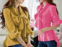 [pingguin peach RO] blouse wanita twiscont peach