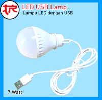 Lampu LED USB Bohlam USB 7 Watt Lampu LED Portable ID038