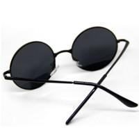 Kacamata Bulat (Made in Korea) Warna Hitam Model Vintage [ UniSex ]