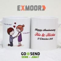 Kado Anniversary Mug Couple Say Your Love
