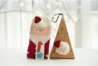 Christmas Socks 3D with Santa, Snowman, and Deer with No Box Hi Qlty