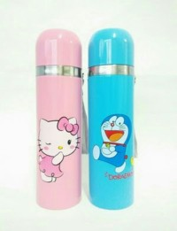 BRG-17000586 Thermos /Botol termos karakter doraemon/hello kitty 500ml