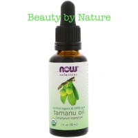 Now , Tamanu Oil , certified organic , cold pressed ,100 %pure , 30 ml