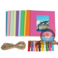 Frame foto gantung warna warni / frame photo kertas/ hanging foto
