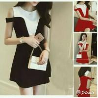 M6 bb DRESS SABRINA AYUMI RED Black