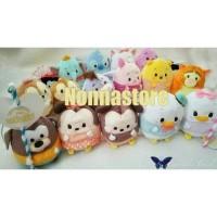 Boneka Plush Disney UFUFY Tsum Tsum Original 12cm + Bendera Lonceng