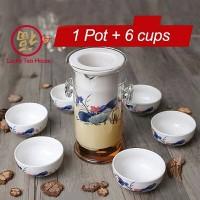 Chinese kungfu tea set keramik kaca cangkir teh