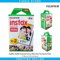 Fujifilm Refill Polaroid Instax Mini Film Twinpack Plain (20 Lembar)