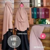 jilbab / kerudung / hijab instan segiempat pet cadar tali