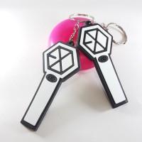 Gantungan kunci / keychain rubber exo light stick kpop
