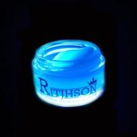 POMADE RITJHSON GLOW IN THE DARK BLUE BIRU + FREE SISIR SAKU