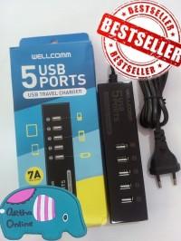 charger wellcomm 7A 5usb port original