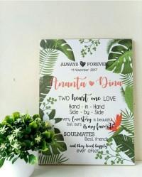 hiasan dinding wall decor custom kado hadiah souvenir pernikahan