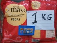 mayo mayonaise hot pedas 1kg omayo. sumber frozen makmur