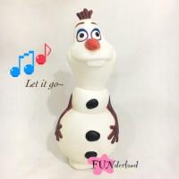 Celengan Olaf Frozen musik Let it Go Lampu Boneka Salju