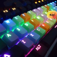 Keycaps Rainbow 37 key, PBT Tembus LED for Mechanical Keyboard
