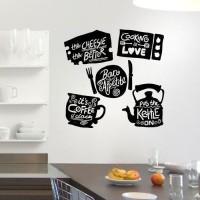 Wall Stiker Quote Kitchen Dapur Cafe Ruang Makan Sticker Dinding Kaca
