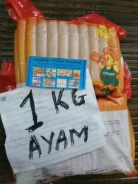 40 sosis ayam 1kg champ. sumber frozen makmur