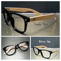 Paket Frame Kacamata WOODSTICK ( Asli Kayu ) + Lensa Minus Antiradiasi