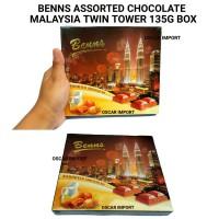 BENNS MALAYSIA TWIN TOWER BOX CHOCOLATE BAR 135G COKLAT MALAYSIA