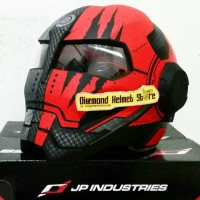 Helm JPX Bot X 730 Iron Man Claw Marks Red Black