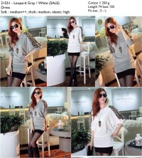 Leopard blouse (Black,White,Gray) -21551