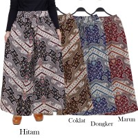 Celana Kulot JUMBO XXL 2L bahan katun Linen motif Batik Kulot Batik