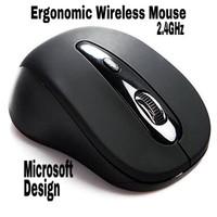 Wireless Mouse Ergonomic Optical USB Receiver mirip MICROSOFT