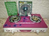 Kompor Gas Turbo (bonus selang + reg quantum) Purple fuschia