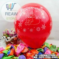 Balon Latex Natal / Merry Christmas