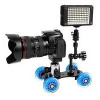 Rolling Track Slider Skater 4 Wheels for DSLR Camera