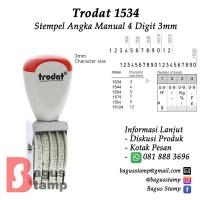 Stempel Manual Angka 4 Digit 3mm Trodat 1534