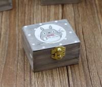 Kotak musik kayu, wooden music box desain studio ghibli totoro
