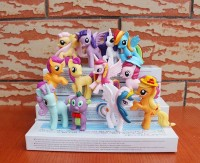 Figure My Little Pony Set Isi 12 Tinggi 5 - 7 Cm - Cake Topper
