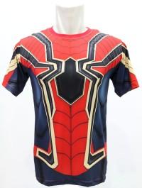 KAOS BAJU PRIA SUPER HERO SUPERHERO SPIDERMAN GYM FITNES SEPEDA LARI