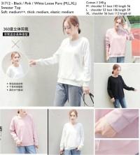 31712 Loose Pure Sweater Top Outerwear Import Baju Hangat Wanita
