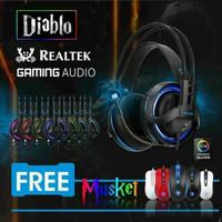 Sades Diablo Realtek Gaming Headset Free Mouse Sades Musket SA-916