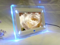 Digital Photo Frame 7 inch with LED Lights / digital foto frame