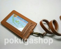 harga Id card holder /name tag kulit pln limited /pln/nametag garut kulit Tokopedia.com