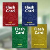 FLASH CARD ABJAD, ANGKA, WARNA UNTUK BALITA (KARTU BELAJAR)
