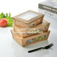 FOOD GRADE BROWN KRAFT PAPER LUNCH BOX UKURAN L