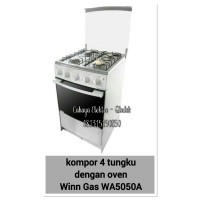 kompor 4 tunggu dengan oven winn gas W5050A