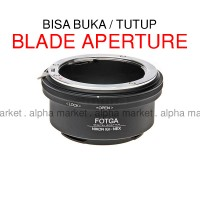 Adapter Nikon G To Nex (Mirrorless E Mount) Fotga dgn Switch Aperture
