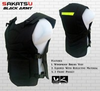 Rompi Motor | Body Protector Bikers Sakatsu Black Army