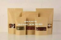 STANDING POUCH KLIP KRAFT WINDOW/PLASTIK BERDIRI JENDELA 14X22CM