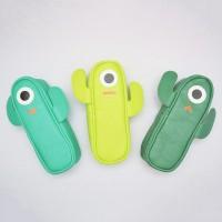 Silly Cactus Leather Pencil Case / Tempat Pensil / Kotak Pulpen