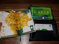 Sold out! planner Starbucks 2018 + pouch +voucher