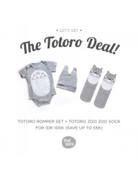 Hey Baby The Totoro Deal Romper Topi Socks