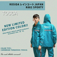 Jas Hujan Rosida Japan R882 Sporty Edition Warna Tosca